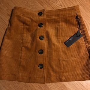 Corduroy Mini Skirt - camel color
